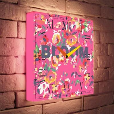 Световые часы Pink Bloom LB-037-35