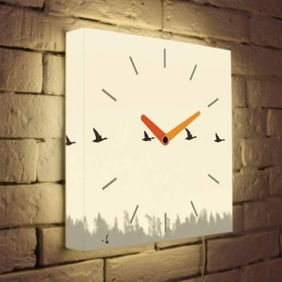 Световые часы Птицы LB-003-35 цена и фото