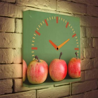 Часы настенные FotonioBox Яблоки LB-011-35 разноцветный рисунок цена и фото