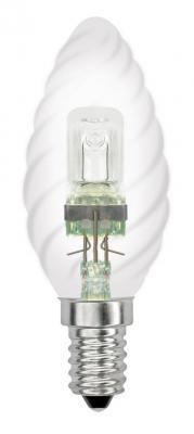 Лампа галогенная свеча Uniel 04113 E14 42W HCL-42/CL/E14 candle twisted