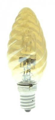Лампа галогенная свеча Uniel 04115 E14 42W HCL-42/CL/E14 candle twisted gold