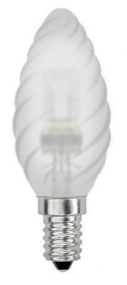 Лампа галогенная свеча Uniel 04117 E14 42W HCL-42/FR/E14 candle twisted
