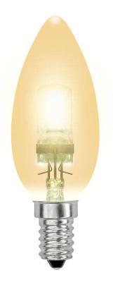 Лампа галогенная свеча Uniel 04119 E14 42W HCL-42/CL/E14 candle gold