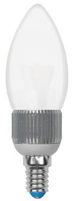 Лампа светодиодная свеча Uniel Cryslal Dimmable E14 5W 3000K LED-C37P-5W/WW/E14/FR/DIM лампа светодиодная филаментная ul 00002860 e14 5w 3000k свеча led c35 5w ww e14 cl dim gla01tr