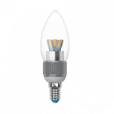 Лампа светодиодная свеча Uniel Cryslal Dimmable E14 5W 4500K LED-C37P-5W/NW/E14/CL/DIM led светильник philips led e14 3 5w led led