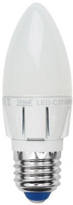 Лампа светодиодная свеча Uniel 08691 E27 6W 3000K LED-C37-6W/WW/E27/FR/DIM