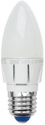 Лампа светодиодная свеча Uniel Palazzo E27 6W 4500K LED-C37-6W/NW/E27/FR/DIM лампа lightstar e27 led 6w 220v 4200k 933824