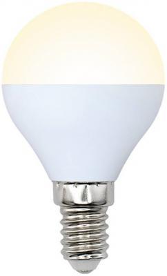 Лампа светодиодная шар Volpe 10700 E14 6W 3000K LED-G45-6W/WW/E14/FR/DIM/O