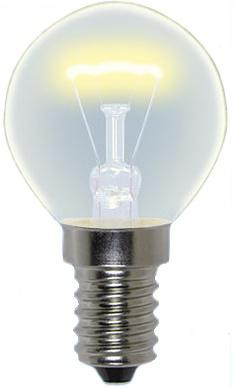 Лампа накаливания шар Uniel 01445 E14 40W IL-G45-CL-40/E14