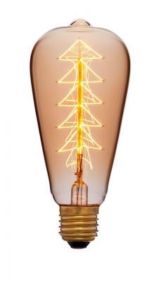 Лампа накаливания колба Sun Lumen ST64 F9 E27 40W 2200K 053-532 sun lumen лампа накаливания sun lumen колба прозрачная e27 60w 053 228