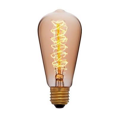 Лампа накаливания колба Sun Lumen ST58 F5 E27 40W 2200K 052-191 цена и фото