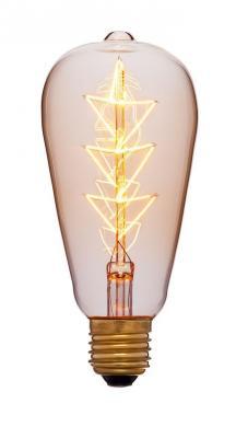 Лампа накаливания колба Sun Lumen ST64 F10 E27 40W 2200K 053-556