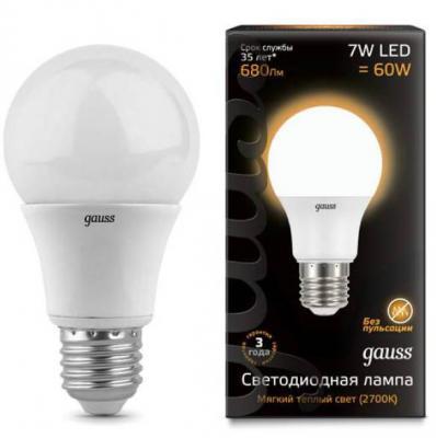 Лампа светодиодная шар Gauss E27 7W 2700K 102502107