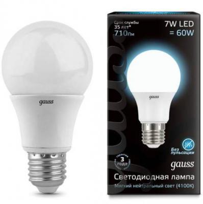Купить Лампа светодиодная шар Gauss E27 7W 4100K 102502207