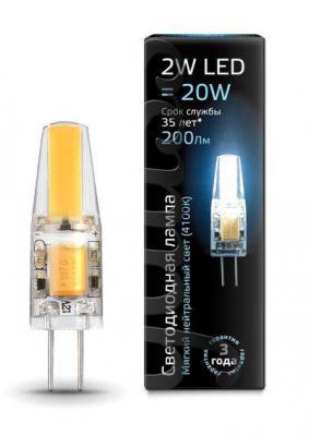 Лампа светодиодная колба Gauss G4 2W 4100K 107707202
