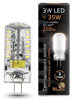 Лампа светодиодная колба Gauss G4 3W 2700K 107707103