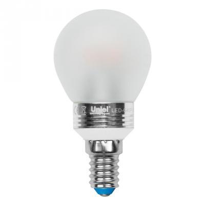 Лампа светодиодная шар Uniel 08009 E14 5W 3000K LED-G45P-5W/WW/E14/FR ALC02SL