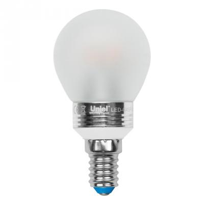 Лампа светодиодная шар Uniel 08010 E14 5W 4500K LED-G45P-5W/NW/E14/FR
