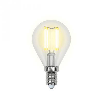 Лампа светодиодная шар Uniel Sky E14 6W 3000K LED-G45-6W/WW/E14/CL