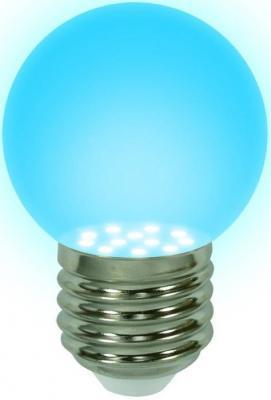 Лампа светодиодная шар Uniel 04423 E27 0.65W LED-G45-0,65W/BLUE/E27