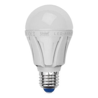 Лампа светодиодная груша Uniel 07885 E27 11W 4500K LED-A60-11W/NW/E27/FR ALP01WH