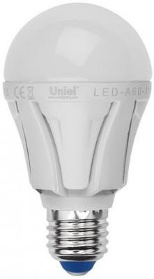 Лампа светодиодная груша Uniel Merli E27 11W 4500K LED-A60-11W/NW/E27/FR ALM01WH