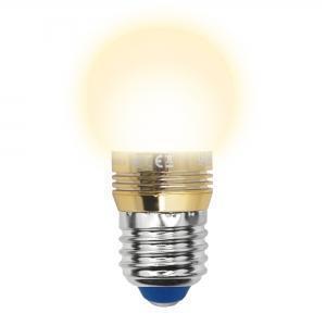Лампа светодиодная шар Uniel Crystal Gold E27 5W 3000K LED-G45P-5W/WW/E27/FR ALC02GD