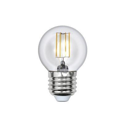 Лампа светодиодная шар Uniel Sky E27 6W 3000K LED-G45-6W/WW/E27/CL