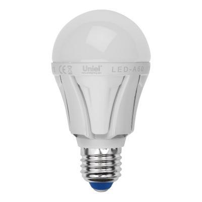 Лампа светодиодная груша Uniel 07888 E27 9W 4500K LED-A60-9W/NW/E27/FR ALP01WH