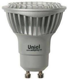 Лампа светодиодная полусфера Uniel 07251 GU10 5W 4500K LED-JCDR-5W/NW/GU10/FR