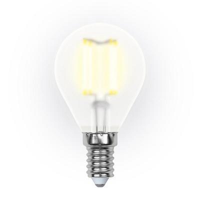 Лампа светодиодная шар Uniel Sky E14 6W 3000K LED-G45-6W/WW/E14/FR PLS02WH