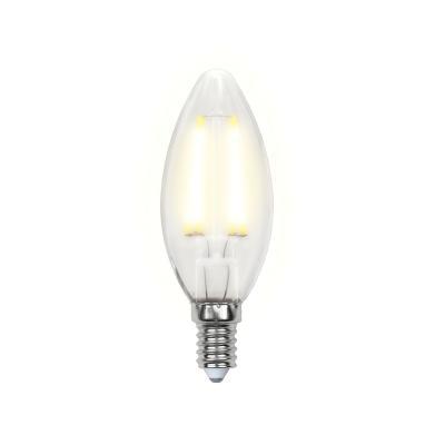 Лампа светодиодная свеча Uniel Sky E14 6W 3000K LED-C35-6W/WW/E14/FR PLS02WH uniel лампа светодиодная uniel свеча матовая e14 6w 4500k led c37 6w nw e14 fr alp01wh 07889