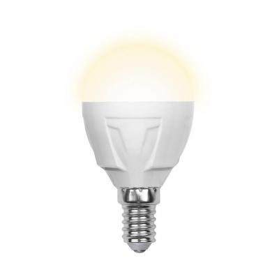 Лампа светодиодная шар Volpe Simple E14 6W 3000K LED-G45-6W/WW/E14/FR/S