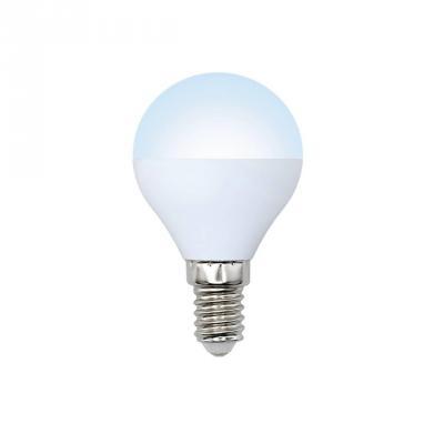 Лампа светодиодная шар Volpe Optima E14 6W 4500K LED-G45-6W/NW/E14/FR/O