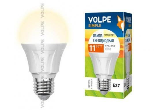 Лампа светодиодная груша Volpe Simple E27 11W 3000K LED-A60-11W/WW/E27/FR/S