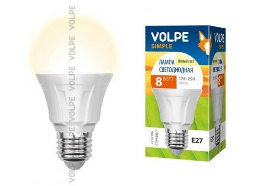 Лампа светодиодная груша Volpe Simple E27 8W 3000K LED-A60-8W/WW/E27/FR/S