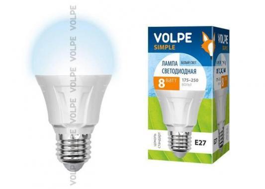 Лампа светодиодная груша Volpe Simple E27 8W 4500K LED-A60-8W/NW/E27/FR/S