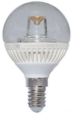 Лампа светодиодная шар Наносвет L140 E14 5W 2700K LC-GCL-5/E14/827