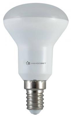 Лампа светодиодная рефлекторная Наносвет L113 E14 6W 4000K LE-R50-6/E14/840 лампа светодиодная маяк c30 e14 6w 4000k