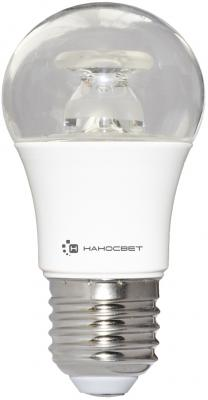 Лампа светодиодная груша Наносвет E27 7.5W 4000K LC-P45CL-7.5/E27/840 L211 лампа светодиодная груша наносвет e27 7 5w 4000k lc p45cl 7 5 e27 840 l211