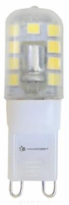 Лампа светодиодная G9 2,5W 3000K колба прозрачная LC-JCD-2.5/G9/830 L222