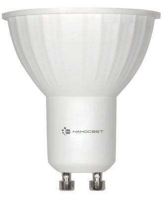 Лампа светодиодная GU10 6W 4000K полусфера матовая LE-MR16A-6/GU10/840 L109