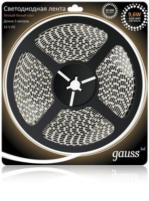 Светодиодная лента Gauss 5M теплый белый 9,6W IP66 EB311000110 светодиодная лента gauss 5m теплый белый 14 4w ip66 311000114