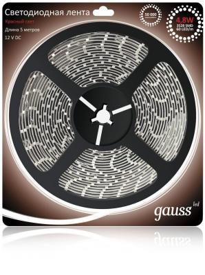 цена Светодиодная лента Gauss 5M красный 4.8W EB312000705
