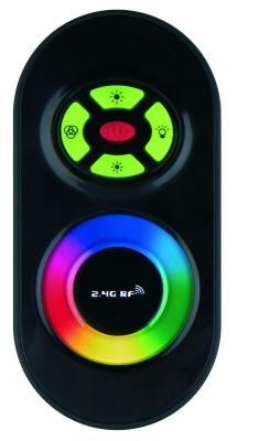 Контроллер для светодиодных лент 12/24В с пультом ДУ 2,4 ГГц (11105) Uniel ULC-G10-RGB Black feron 11105