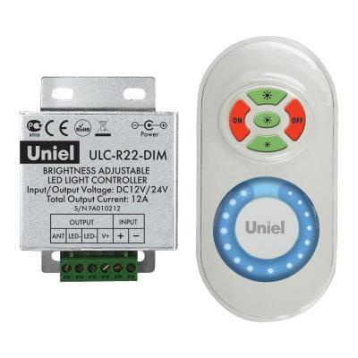 Контроллер для управления яркостью одноцветных светодиодов с пультом (05947) ULC-R22-DIM White контроллер для управления яркостью одноцветных светодиодов 05947 ulc r22 dim white