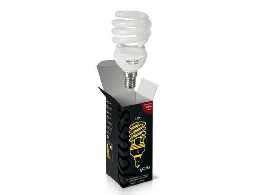 Лампа энергосберегающая E14 15W 2700K спиральT2 матовая 171115
