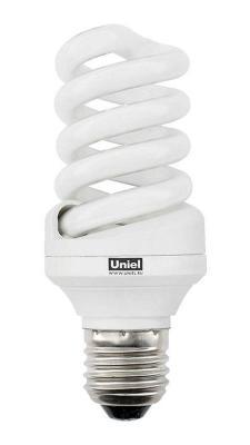 Лампа энергосберегающая свеча Uniel 0374 E27 20W 2700K ESL-S11-20/2700/E27 лампа энергосберегающая 0554 e14 15w 2700k спираль матовая esl s11 15 2700 e14