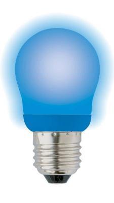 Лампа энергосберегающая шар Uniel 03099 E27 9W ESL-G45-9/BLUE/E27