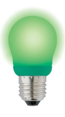 Лампа энергосберегающая шар Uniel 03039 E27 9W ESL-G45-9/GREEN/E27